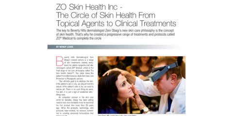 ZOr Article in Plastic Surgery Practice – The Circle of Skin Health